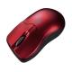 サンワサプライ ワイヤレスブルーLEDマウス Bluetooth3.0 超小型サイズ レッド MA-BTBL27R