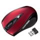 サンワサプライ ワイヤレスレーザーマウス 2.4GHz USBコネクタ(Aタイプ) 中型サイズ レッド MA-NANOLS12R