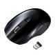 サンワサプライ 静音ワイヤレスブルーLEDマウス 2.4GHz USBコネクタ(Aタイプ) 中型サイズ ブラック MA-WBL33BK