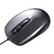 サンワサプライ 有線光学式マウス USBコネクタ(Aタイプ) 中型サイズ ダークシルバー MA-127HDS