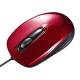 サンワサプライ 有線光学式マウス USBコネクタ(Aタイプ) 中型サイズ レッド MA-127HR