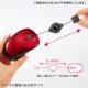 サンワサプライ ケーブル巻き取りブルーLEDマウス USBコネクタ(Aタイプ) 小型サイズ レッド MA-BLMA7R 画像4