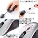 サンワサプライ ケーブル巻き取りブルーLEDマウス USBコネクタ(Aタイプ) 中型サイズ シルバー MA-BLMA9S 画像3