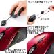 サンワサプライ ケーブル巻き取りブルーLEDマウス USBコネクタ(Aタイプ) 中型サイズ レッド MA-BLMA9R 画像3