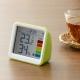 YAZAWA(ヤザワ) 【在庫限り】時計付き置き型デジタル温湿度計 グリーン DO03GR 画像4