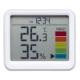 YAZAWA(ヤザワ) 【在庫限り】時計付き置き型デジタル温湿度計 ライトグレー DO03LGY 画像2