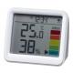 YAZAWA(ヤザワ) 【在庫限り】時計付き置き型デジタル温湿度計 ライトグレー DO03LGY 画像3