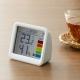 YAZAWA(ヤザワ) 【在庫限り】時計付き置き型デジタル温湿度計 ライトグレー DO03LGY 画像4