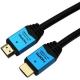 ホーリック ハイスピードHDMIケーブル イーサネットチャンネル(HEC)対応 長さ1.5m ブルー HDM15-893BL