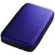 サンワサプライ ブルーレイディスク対応セミハードケース ファスナータイプ 56枚収納 ブルー FCD-WLBD56BL