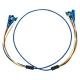 サンワサプライ ロバスト光ファイバケーブル LCコネクタ×4 LCコネクタ×4 コア径9.2ミクロン 4芯マルチモード 20m ブルー HKB-LCLCRB1-20 画像1