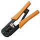 サンワサプライ かしめ工具 ラチェット付 HT-568R 画像1