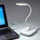 サンワサプライ USBタッチLEDスタンド 14粒ホワイトLED使用 フレキシブルアーム ホワイト USB-TOY82W 画像5