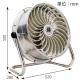 ナカトミ 循環送風機 《風太郎》 羽根径35cm 全閉式 風量2段階切替(弱・強) ステンレス3枚羽根 CV-3510S 画像3