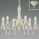 コイズミ照明 LEDシャンデリア 《シャビリア》 ~4.5畳用 LEDランプ交換可能型 白熱球40W×6灯相当 電球色 4.0W×6灯 口金E17 AA42137L