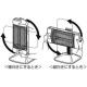 コロナ 遠赤外線電気ストーブ 《コアヒート》 BCコーティングシーズヒーター搭載 縦・横向き両用 11段階(H+10段階)温度調節 CH-127R(W) 画像2