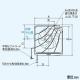 三菱 標準換気扇 ワンタッチフィルタータイプ 交換形 台所用 連動式シャッター 引きひも付 プラグ付電源コード 羽根径20cm EX-20LF6 画像2