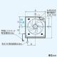 三菱 標準換気扇 ワンタッチフィルタータイプ 再生形 台所用 電気式シャッター 引きひもなし プラグ付電源コード 羽根径25cm EX-25EFH6-M 画像2