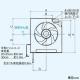三菱 標準換気扇 スタンダードタイプ 居間・店舗用 風圧式シャッター 引きひもなし プラグ付電源コード 羽根径30cm EX-30SH6 画像2