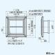 三菱 排気用グリル 薄形格子タイプ グリル脱着式 ネットフィルター・風量調節機構付 ホワイト P-13GLSF2 画像2