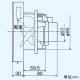三菱 パイプ用ファン 遅延タイマー付タイプ 排気用 角形格子グリル 24時間換気機能付 浴室・トイレ・洗面所用 天井・壁据付可能 接続パイプφ100mm V-08PPLD7-T 画像3