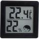 ドリテック 小さいデジタル温湿度計 O-257BK