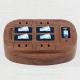 旭電機化成 雷ガード付4口節電コンセント 木目タイプ 定格125V 15A 照光式タンブラースイッチ ダミープラグ付 ASW-014MO