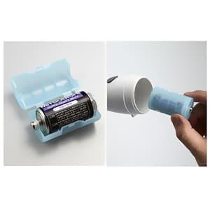 旭電機化成 単2が単1になる電池アダプター 2個入 パープル ADC-210PP 画像2