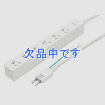 YAZAWA(ヤザワ) 3P抜け止めマグネットタップ 6個口 2m Y02JKNP602WH