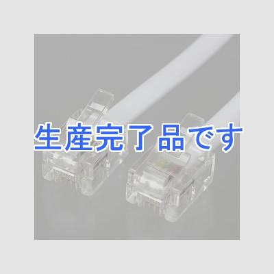 YAZAWA(ヤザワ) ストレートモジュラーケーブル 20m 白 TP1200W
