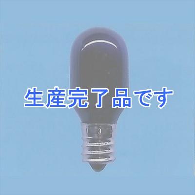 アサヒ 【まとめ買い25個セット】ブラックランプ ナツメ球形 10W E12 T20E12110V10Wブラック-25SET