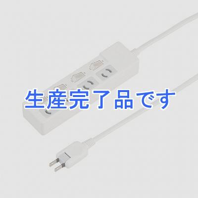 YAZAWA(ヤザワ) 【在庫限り】個別スイッチ付抜け止めタップ4個口2mホワイト Y02KN442WH