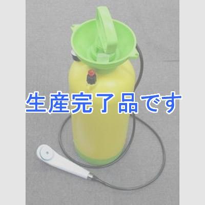 YAZAWA(ヤザワ) 手動加圧式 電源が不要!ポータブルシャワー BA300SPYL