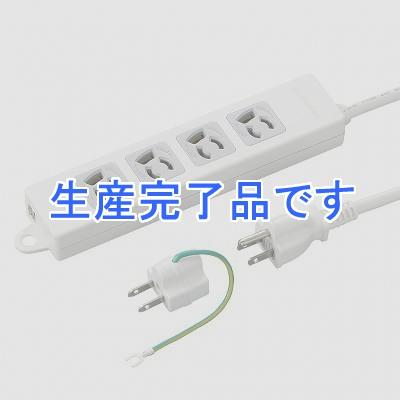 YAZAWA(ヤザワ) 【在庫限り】取り付け穴付抜け止めタップ4個口2mホワイト Y02EJNP402WH2PA