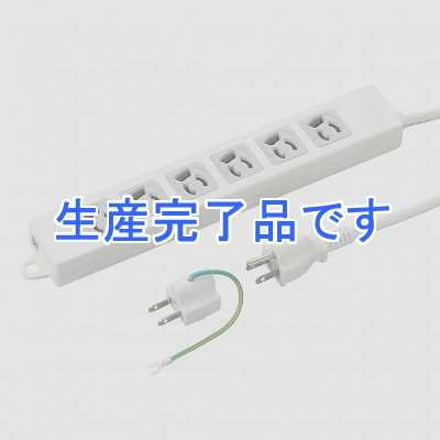 YAZAWA(ヤザワ) 取り付け穴付抜け止めタップ6個口3mホワイト Y02EJNP603WH2PA