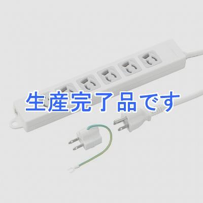 YAZAWA(ヤザワ) 取り付け穴付抜け止めタップ6個口5mホワイト Y02EJNP605WH2PA