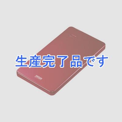 サンワサプライ スマートフォン・タブレット用薄型モバイルバッテリー USB出力ポート2ポート搭載 レッド BTL-RDC7R